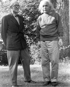 Corbu: Look at me, I'm so smug! Einstein: I'm not wearing socks!